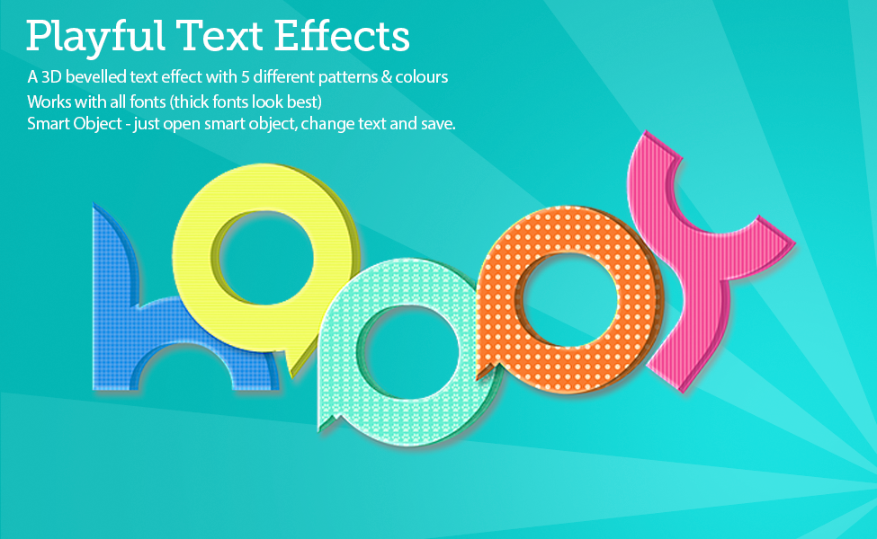 Playful Text Effects PSD Template