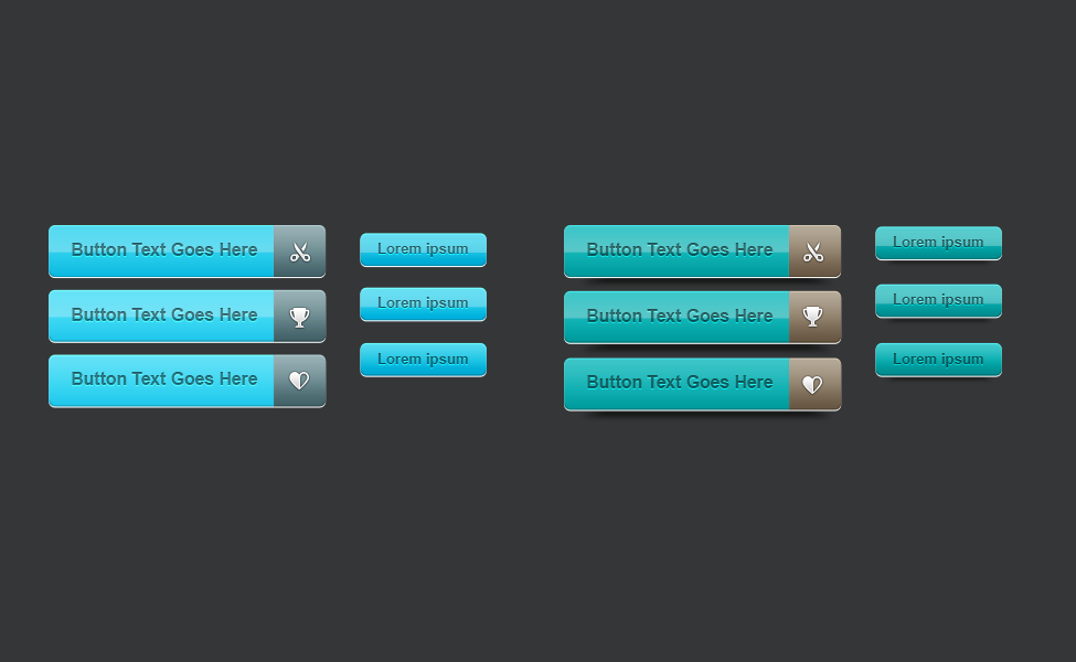 Clean Vector Web Buttons