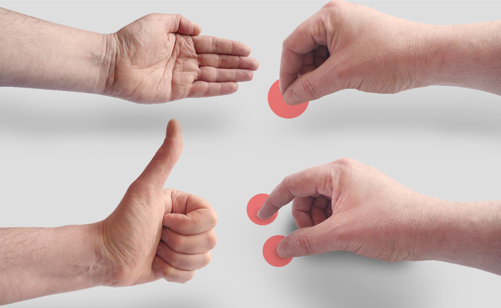 Male Mobile Hand Gestures