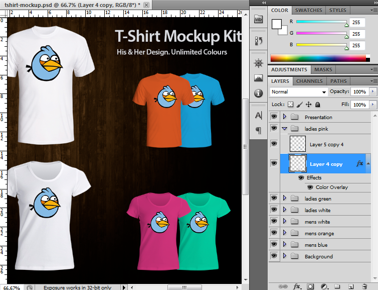 T-Shirt Mockup in PSD format