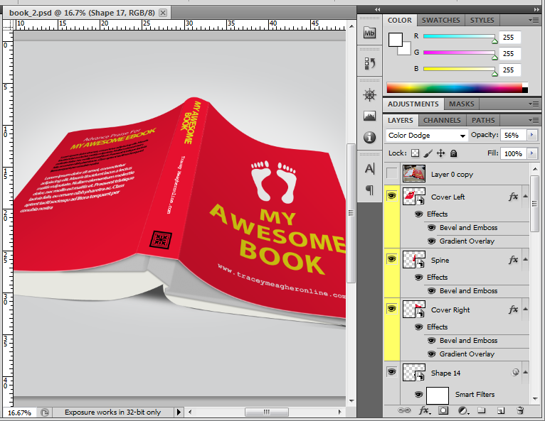 Realistic Book Design in Smart Objects for Easy Editing