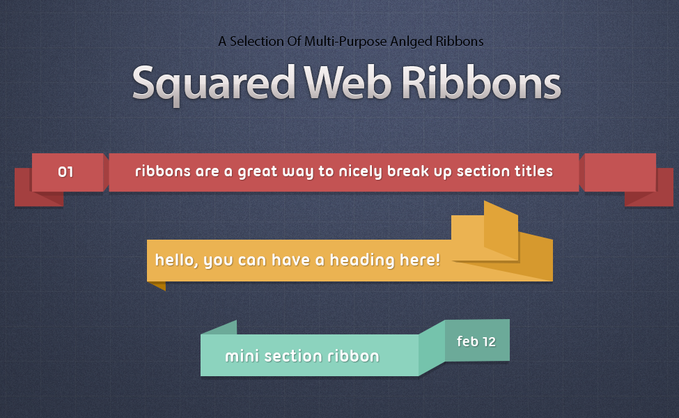 Squared Web Ribbons