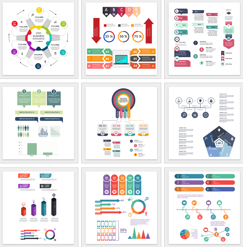 50 Infographic Templates and Designs