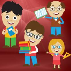 Cartoon Character Graphics - Education